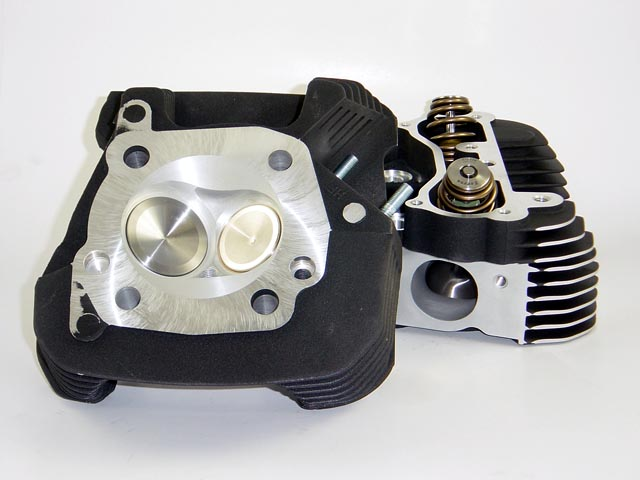 HAMMER PERFORMANCE CRUSH CNC Ported XL1200 Sportster Cylinder Heads