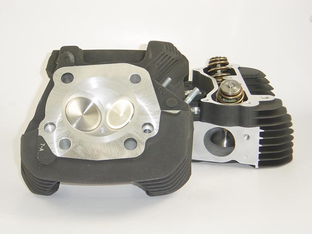 HAMMER PERFORMANCE SMASH CNC Ported 2010 XL883 Sportster Cylinder Heads