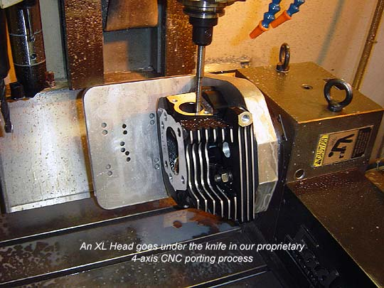 An XL1200R Head Being Ported by CNC