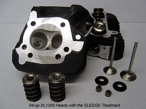 Harley Davidson XL1200R Sportster Cylinder Heads CNC Ported with Big Valve Treatment